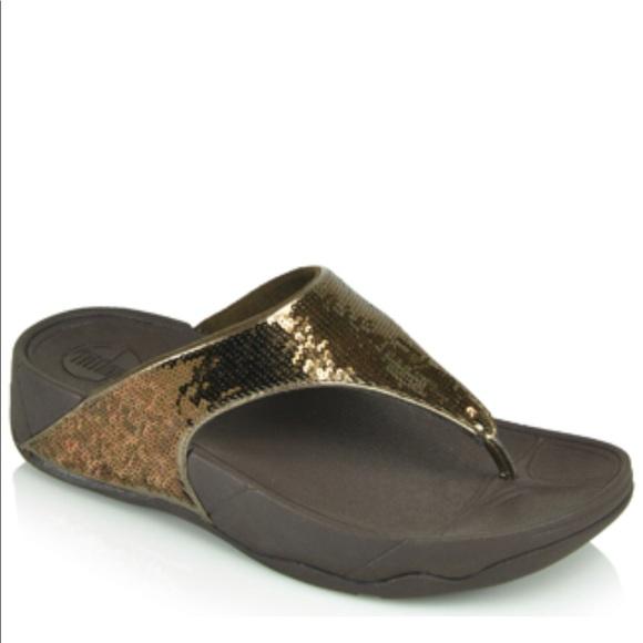 5916695d1b1aff Fitflop Shoes - Electra Classic Sequin Flip-Flop Sandal Brown 6